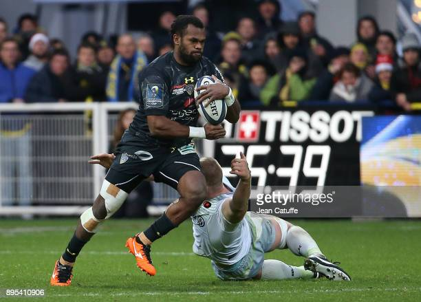 Alivereti Raka of Clermont during the European Rugby Champions Cup match between ASM Clermont Auvergne and Saracens at Stade Marcel Michelin on...