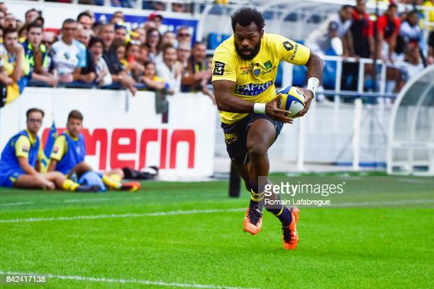 Alivereti Raka of Clermont during the Top 14 match between Clermont and Toulon on September 3 2017 in ClermontFerrand France