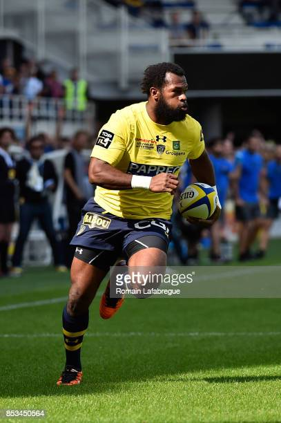 Alivereti Raka of Clermont during the Top 14 match between Clermont Auvergne and Racing 92 at on September 23 2017 in Clermont France