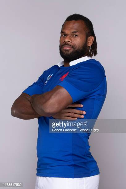 Alivereti Raka of France poses for a portrait during the France Rugby World Cup 2019 squad photo call on September 10 2019 in Fujiyoshida Yamanashi...