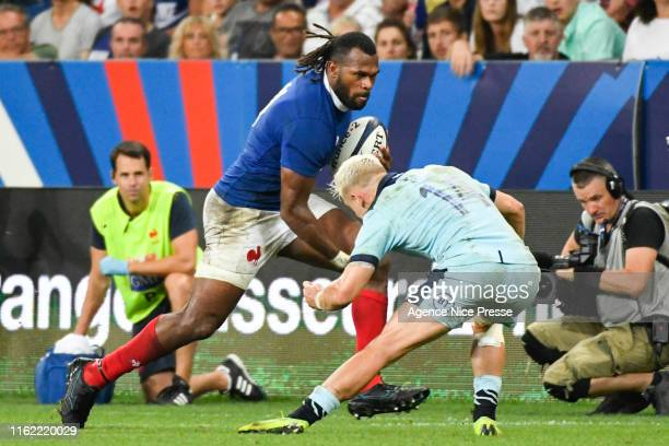 Aliveriti Raka of France during the test match between France and Scotland on August 17 2019 in Nice France