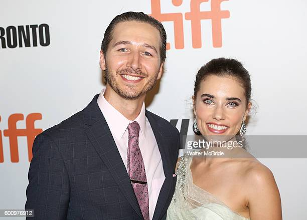 Alix Angelis and husband attend 'The Magnificent Seven' Red Carpet Gala Opening Night of the 2016 Toronto International Film Festival at TIFF Bell...