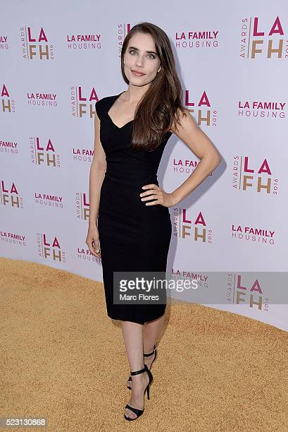 Alix Angelis arrives at LA Family Housing's Annual Awards 2016 at The Lot on April 21 2016 in West Hollywood California