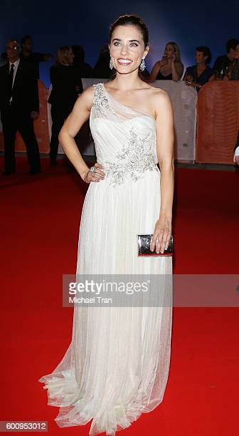 Alix Angelis arrives at the 2016 Toronto International Film Festival The Magnificent Seven premiere held at Roy Thomson Hall on September 8 2016 in...