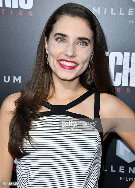 Alix Angelis arrives at the Premiere Of Summit Entertainment's Mechanic Resurrection at ArcLight Hollywood on August 22 2016 in Hollywood California