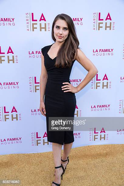 Alix Angelis attends the LA Family Housing's Annual Awards 2016 at The Lot on April 21 2016 in West Hollywood California