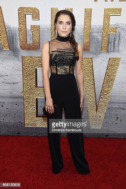 Alix Angelis attends The Magnificent Seven premiere at Museum of Modern Art on September 19 2016 in New York City