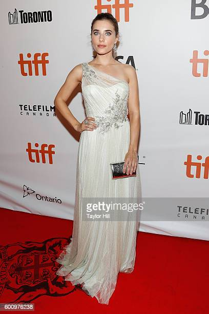 Alix Angelis attends the world premiere of 'The Magnificent Seven' during the 2016 Toronto International Film Festival at Roy Thomson Hall on...