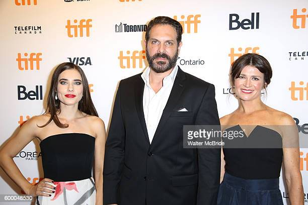 Alix Angelis David Kallaway and Carrie Lazar attend the TIFF Soiree honoring Michael Fassbender at the TIFF BELL Lightbox on September 7 2016 in...