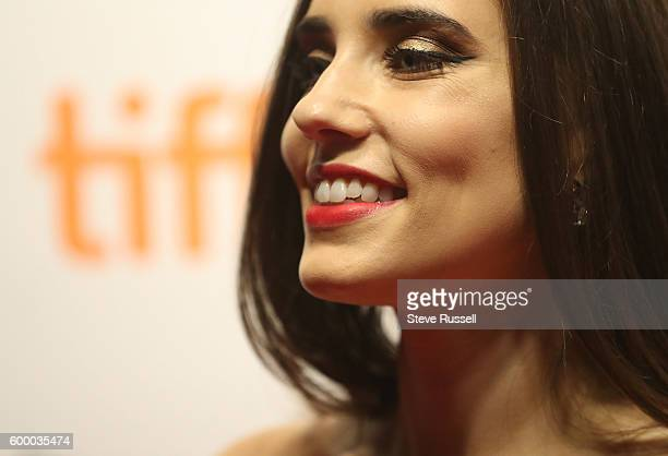 TORONTO ON SEPTEMBER 7 Alix Angelis on the red carpet at the annual Toronto International Film Festival Soiree fundraiser at the TIFF Bell Lighthouse...