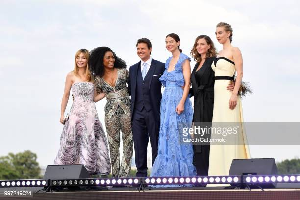 Alix Benezech Angela Bassett Tom Cruise Michelle Monaghan Rebecca Ferguson and Vanessa Kirby attend the Global Premiere of 'Mission Impossible...
