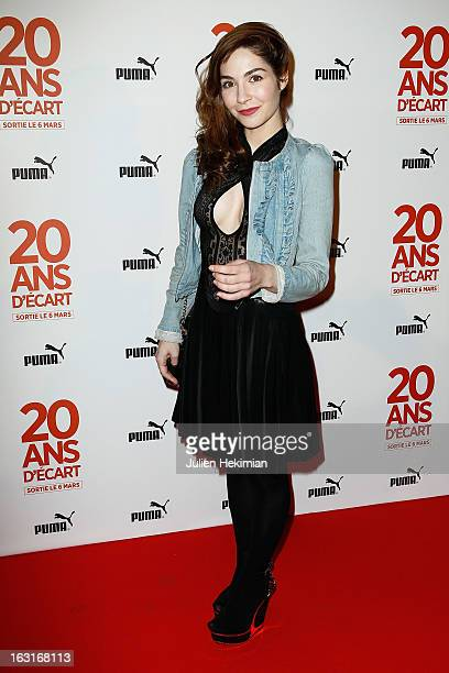Alix Benezech attends '20 Ans D'Ecart' Premiere at Gaumont Capucines on March 5 2013 in Paris France