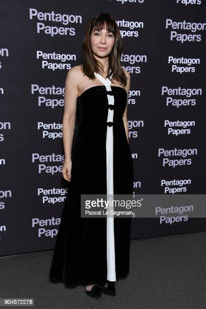 Alix Benezech attends Pentagon Papers Premiere at Cinema UGC Normandie on January 13 2018 in Paris France