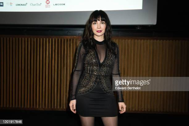 Alix Benezech attends the Le temps Presse Festival Closing Ceremony photocall At UGC LyonBastille In Paris on January 24 2020 in Paris France