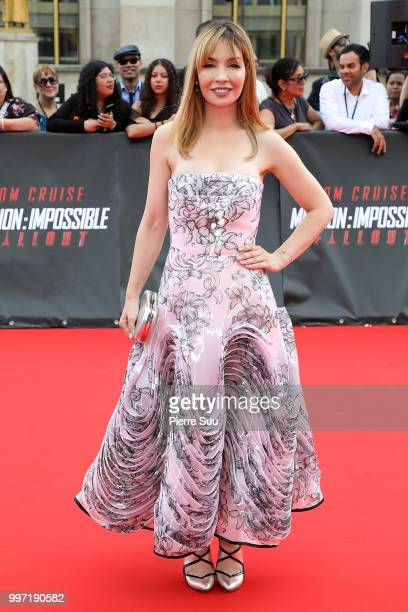 Alix Benezech attends the 'Mission Impossible Fallout' Global Premiere on July 12 2018 in Paris France