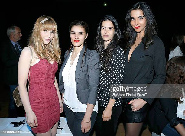R Alix Benezech Lucile De San Jose Flora Bonfanti and Aurelie Montea attend the Lan Yu show as part of Paris Fashion Week Haute Couture Fall/Winter...