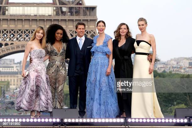 Alix Benezech,Angela Bassett,Tom Cruise,Michelle Monaghan,Rebecca Ferguson and Vanessa Kirby attend the 'Mission: Impossible - Fallout' Global...
