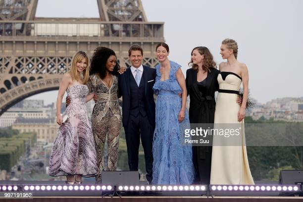 Alix BenezechAngela BassettTom CruiseMichelle MonaghanRebecca Ferguson and Vanessa Kirby attend the 'Mission Impossible Fallout' Global Premiere on...