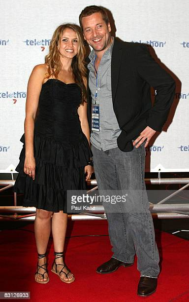 Alix Bidstrup and Jack Campbell arrive during the Channel Seven Perth Telethon at The Perth Convention Exhibition Centre on October 4 2008 in Perth...