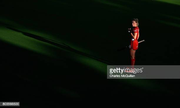 Alix Gerniers of Belgium during the Fintro Hockey World League SemiFinal quarter final playoff game between Korea and Belgium on June 29 2017 in...