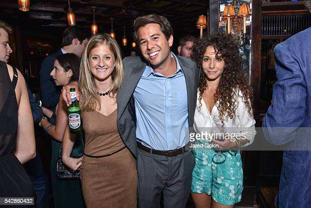 Alix Greenberg Alex Bergson and Brianne Berkson attend AFIM Presents Celebrate Summer An Art Acquisitions Fundraiser at The Jane Hotel on June 23...