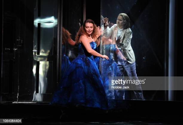 Alix Le Sauk as Cinderella and Eleonore Pancrazi as Prince Charming in Glyndebourne's production of Jules Massenet's Cinderella directed by Fiona...