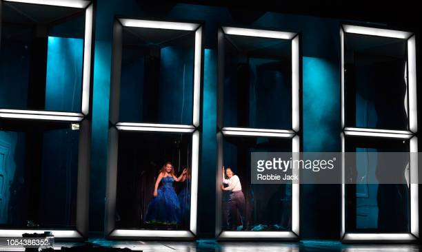 Alix Le Sauk as Cinderella and Eleonore Pancrazi as Prince Charming in Glyndebourne'u2019s production of Jules Massenet's Cinderella directed by...