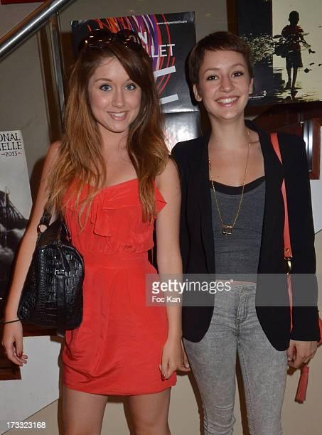 Alix Ligier de Laprade and actress Corinne Touzet's daughter Jeanne Touzet Sieja attend the 'Florides' Margot Abascal's Short Movie Screening...
