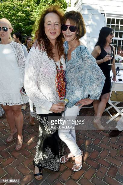 Alix Michel and Lee Fryd attend the Private Hamptons Preview of The RitzCarlton Residences Sunny Isles Beach at Kozu on July 16 2017 in Southampton...
