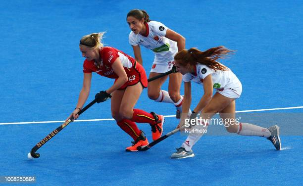 Alix of Belgium during FIH Hockey Women's World Cup 2018 Day Nine match CrossOver game 26 between Belgium and Spain at Lee Valley Hockey amp Tennis...