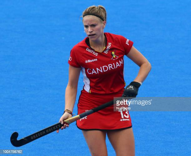 Alix of Belgium during FIH Hockey Women's World Cup 2018 Day Three match Pool D GAME 10 between Australia and Belgium at Lee Valley Hockey amp Tennis...