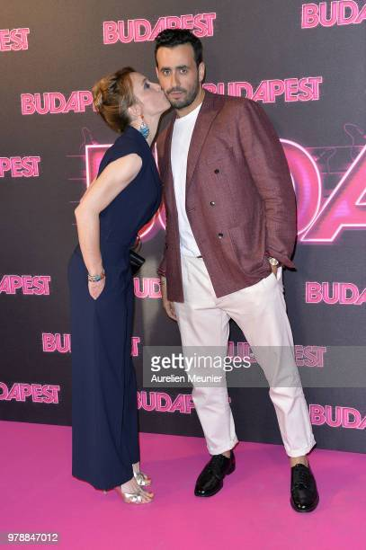 Alix Poisson and Jonathan Cohen attend the Budapest Paris premiere at cinema Gaumont Opera on June 19 2018 in Paris France