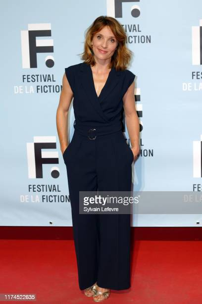 Alix Poisson attends the 21th Festival of TV Fiction At La Rochelle Day Three on September 13 2019 in La Rochelle France