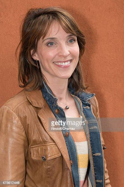 Alix Poisson attends the French Open at Roland Garros on June 2 2015 in Paris France