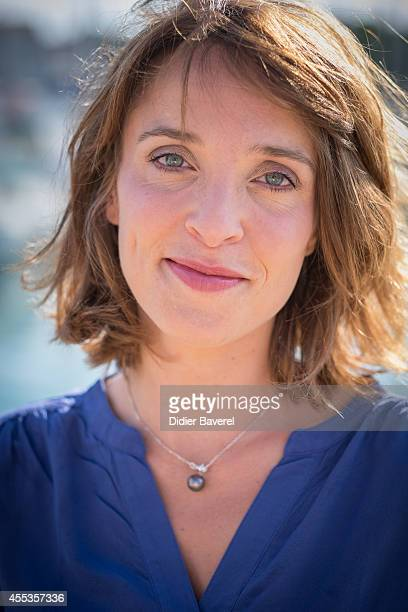 Alix Poisson attends the photocall of 'Parents Mode D'Emploi' as part of 16th Festival of TV Fiction of La Rochelle on September 13 2014 in La...