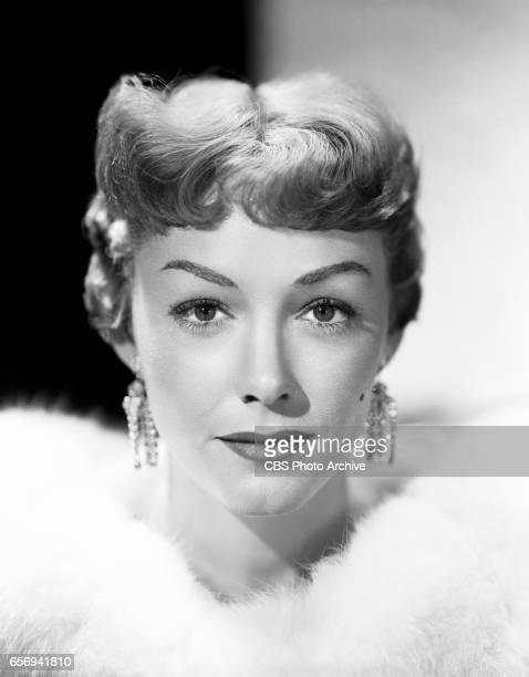 Alix Talton portrays Myra Cobb in the CBS television comedy 'My Favorite Husband' Image dated November 11 1954 Los Angeles CA