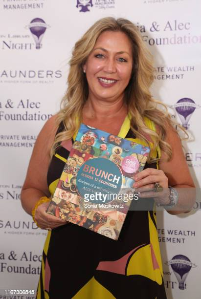 Alix Verrips at the East Hampton Library's 15th Annual Authors Night Benefit on August 10 2019 in Amagansett New York
