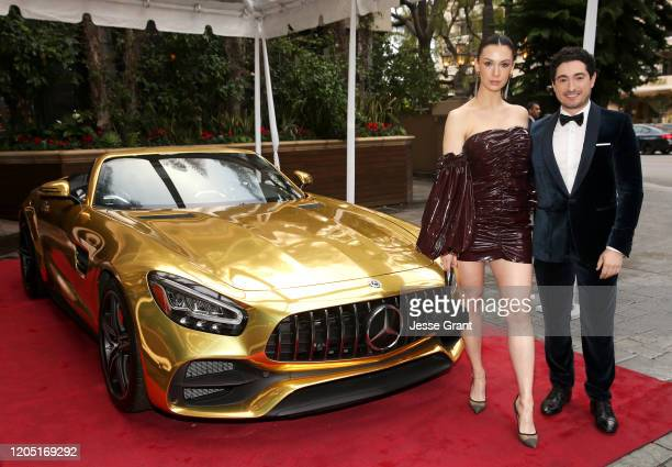 Alixandra von Renner and Jason Fuchs attend the MercedesBenz Academy Awards Viewing Party at The Four Seasons Hotel Los Angeles at Beverly Hills on...