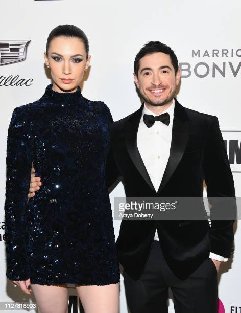 Alixandra von Renner and Jason Fuchs attends the 27th annual Elton John AIDS Foundation Academy Awards Viewing Party celebrating EJAF and the 91st...
