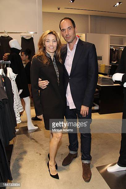 Alixe Boyer and Mario Grauso attend the Joe Fresh Soho opening party at Joe Fresh Soho on October 15 2013 in New York City