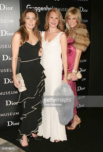 Alixe Boyer Marla Sabo President of Dior USA and Ali Wise attend the Solomon R Guggenheim Museum's Young Collectors Council Artists Ball hosted by...