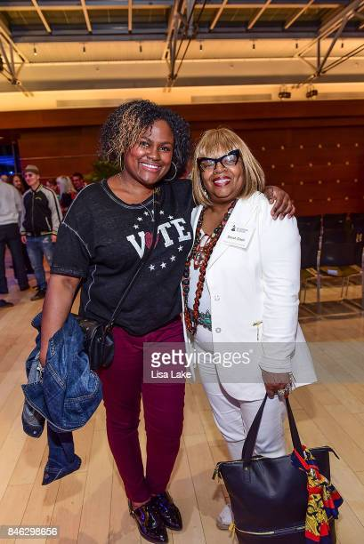 Aliya Crawford and Sarah Dash attend the Advocacy Town Hall meeting at The Kimmel Center on September 12 2017 in Philadelphia Pennsylvania hosted by...