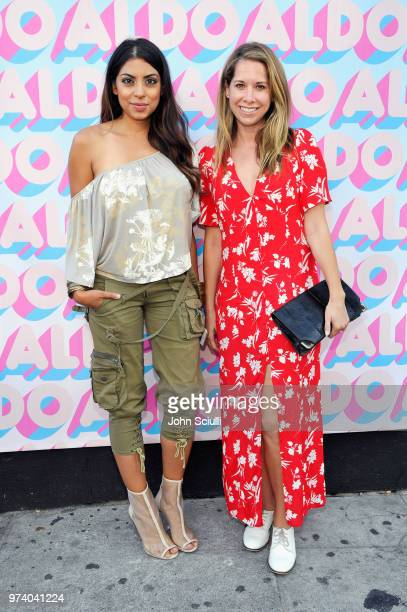 Aliya Jasmine Sovani and guest attend the Aldo LA Nights 2018 at The Rose Room on June 13 2018 in Venice California