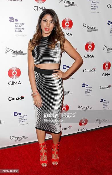 Aliya Jasmine Sovani attends Canada's Grammy Night at Raleigh Studios on February 11 2016 in Los Angeles California