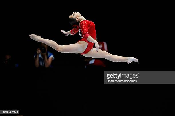 Aliya Mustafina of Russia competes in the Balance beam during the Womens AllRound Final on Day Five of the Artistic Gymnastics World Championships...