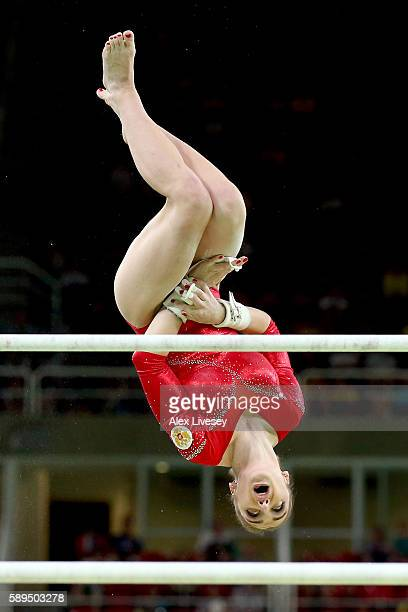 Aliya Mustafina of Russia competes in the Women's Uneven Bars Final on Day 9 of the Rio 2016 Olympic Games at the Rio Olympic Arena on August 14 2016...