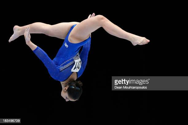 Aliya Mustafina of Russia competes on her way to winning the Gold medal in the Women's balance beam final on Day Seven of the Artistic Gymnastics...