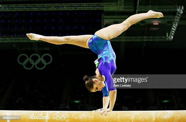 Aliya Mustafina of Russia competes on the balance beam during the Women's Individual All Around Final on Day 6 of the 2016 Rio Olympics at Rio...