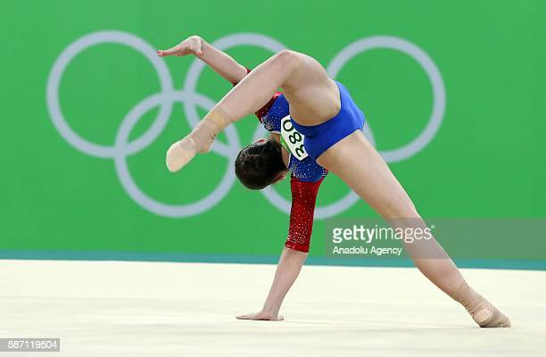 Aliya Mustafina of Russia performs on the balance beam during the artistic gymnastics women's qualification at the 2016 Summer Olympics in Rio de...
