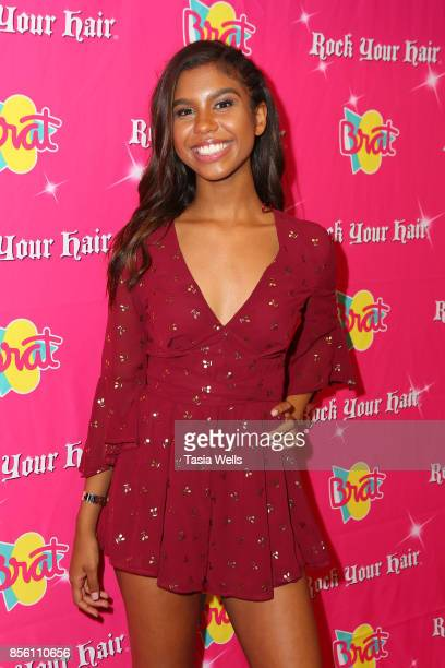 Aliyah Moulden at Rock Your Hair Presents Rock Back to School concert and party on September 30 2017 in Los Angeles California
